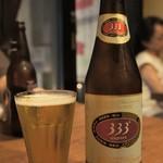アジアンフード&バー バグース - ベトナムビールの333