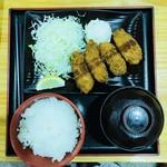 やまの湯軽食コーナー - カキフライ定食¥500