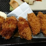 やまの湯軽食コーナー - 単品カキフライ