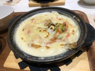ベシャメルカフェ EXPOCITY - 明太子とクリームチーズのドリア