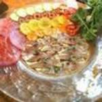 92330687 - 前菜 前菜①走水産かますの炙りフランボワーズビネガーのドレッシング