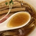 らぁ麺やまぐち - 鶏と昆布出汁のスープ