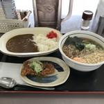 山田うどん - H30.7 カレーセット・うどん+玉子・唐揚げ