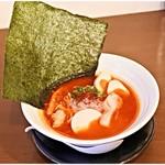 濃厚鶏麺 ゆきかげ - 丼よりデカい海苔です。