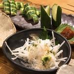 宮崎料理 万作 - 山芋ともろきゅう