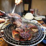 炭火焼肉ホルモン 七輪坂井 - 厚切り上ロース