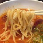 拉麺ひらり - モチモチ食感の平打ち太麺