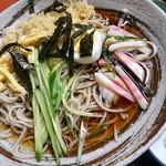松屋そば店 - 冷やしタヌキ蕎麦、730円也。