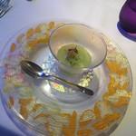 92346115 - キューリのスープ ヤリイカ とびっ子