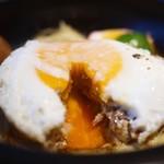 山本のハンバーグ - 期待通りの半熟目玉焼き