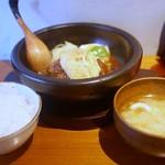 山本のハンバーグ - ライス、味噌汁付き