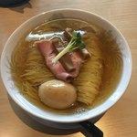 麵処清水 - 鶏塩そば 600円+味玉(クーポン)