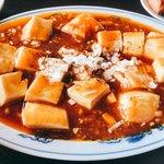 龍泉飯店 - 麻婆豆腐辛口。あまり辛くない。