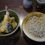 手打ち蕎麦 みたに - 小天丼とお蕎麦(1200円)
