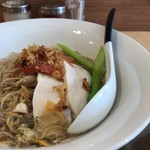 麺屋M - 料理写真:貝そば 洋風仕立て 〜夏野菜を添えて〜
