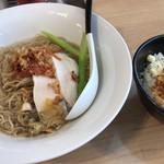 麺屋M - 貝そば 洋風仕立て 〜夏野菜を添えて〜 オニオンリゾットともセットで注文