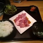 焼肉 乙ちゃん - 上ロースと上カルビの定食