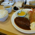 洋食Cucina - 料理写真:ハンバーグ&エビフライ