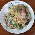 萬寿亭 - 料理写真:皿うどん(小)太麺@650