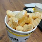 からこカフェ - 塩、多すぎ。ポテト300円。