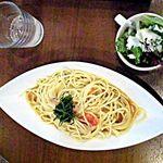 ボルカフェ - 本日のパスタ;ツナとトマトの冷製パスタセット¥1200