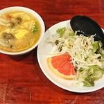 中華料理 八戒 - 玉子スープとサラダ付き