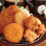 満天食堂 - 【MEGA】メガMIXフライ定食