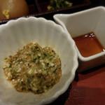 山形酒菜一 - 山形だし;醤油をかけて混ぜて