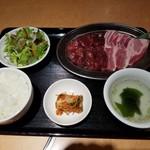 牛若 - 牛若ランチ・ハラミ定食¥1000