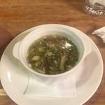 二軒小屋ロッヂ - リゾット付属きのこスープ