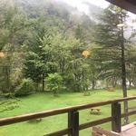 二軒小屋ロッヂ - 2018.9.8 Sat. 9:00前 バルコニーから瀑布方面を望む