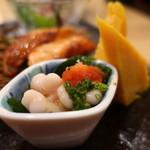 すし三崎丸 - 真鱈白子ポン酢 玉子焼