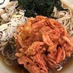 あきば - 天ぷら蕎麦(紅生姜)