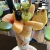 フルーツファーム果楽土 shop&cafe - 料理写真:★★★☆ フルーツパフェ 桃たっぷり