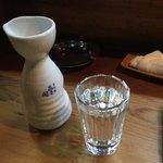 中津川 - 「中津川」ラベルの淡麗辛口の日本酒2合 多分「あさ開」の純米