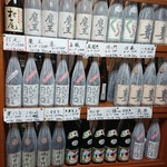 三楽 - ドリンク写真:ズラ~ッとプレミアム焼酎が勢ぞろい❕ (^_^)v