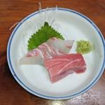 三楽 - 中トロと鯛のお刺身