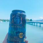 かわ屋 - 大濠公園で飲む缶ビール(※ブルー加工しすぎ案件)