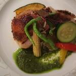 コピーヌ - 若鶏の塩麹焼きバジルソース