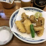 だるま寿し - 松茸天ぷら