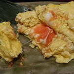 鮮魚酒場 たくみ食堂 - 中から明太子とチーズが登場