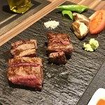 92387015 - メインのお肉。ランプとイチボ肉。