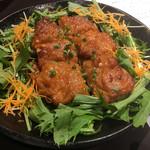 東北うまいもの酒場 プエドバル - 青森あべ鶏もも肉、生姜風味の味噌焼き