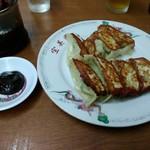 宝美園 - 餃子350円と味噌ダレ