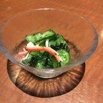 柚庵 - お通し きゅうりの酢の物