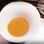 Sincere + - お野菜には特製蟹味噌のソースで♪( ´▽`)