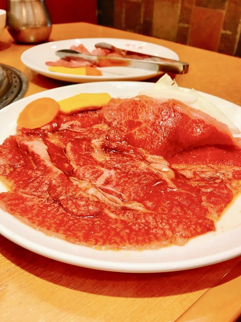 明月館 上本町本店 - 薄切りバラ肉‼︎