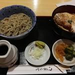 水内庵 - かけそば+ひれかつ丼1000円