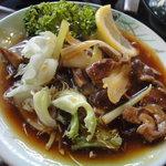 大野路 - 阿波尾鶏砂肝カキソース炒め