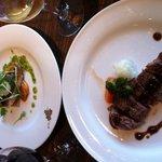 9240829 - メインの魚とお肉